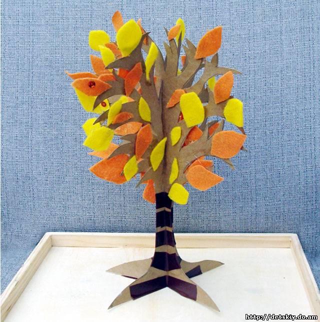 Деревья из бумаги своими руками фото